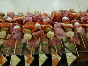 Delicious antipasto skewers!